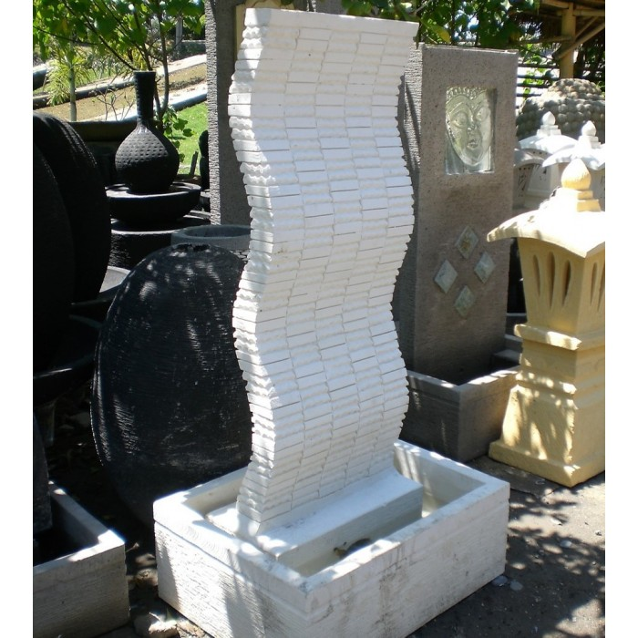 Fontaine indonésienne Artisanale Ondulé
