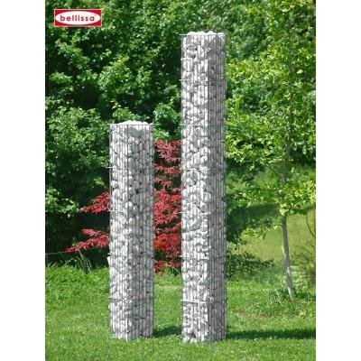 Colonne en pierre carrée, 125 cm et 175 cm