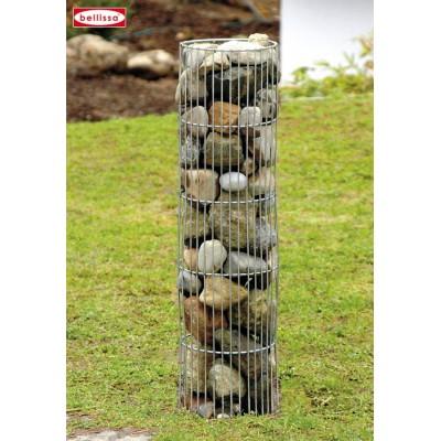 Colonne en pierre circulaire Gabion, 25 x 120 cm et 25 x 180 cm