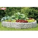 Parterre jardin surélevé circulaire en gabion BELLISSA