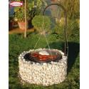 Barbecue circulaire en Gabion de diamètre 92/40 cm