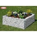 Parterre surélevé Premium carré - Gabion 120 x 120 x 40 cm