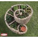 Spirale aromatique extérieur - Gabion 200 x 150 cm