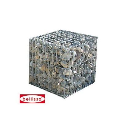 Muret de pierres en gabion, 50 cm 100 cm et 150 cm