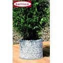 Bac à plantes circulaire en Gabion diamètre 40 x H. 30 cm