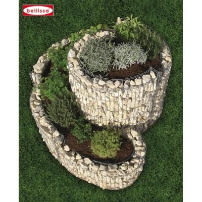 Spirale décorative en Gabion 110 x 90 cm