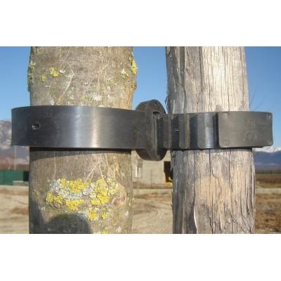 Collier avec boucle pour tuteurage d'arbres et arbustes - 100 unités