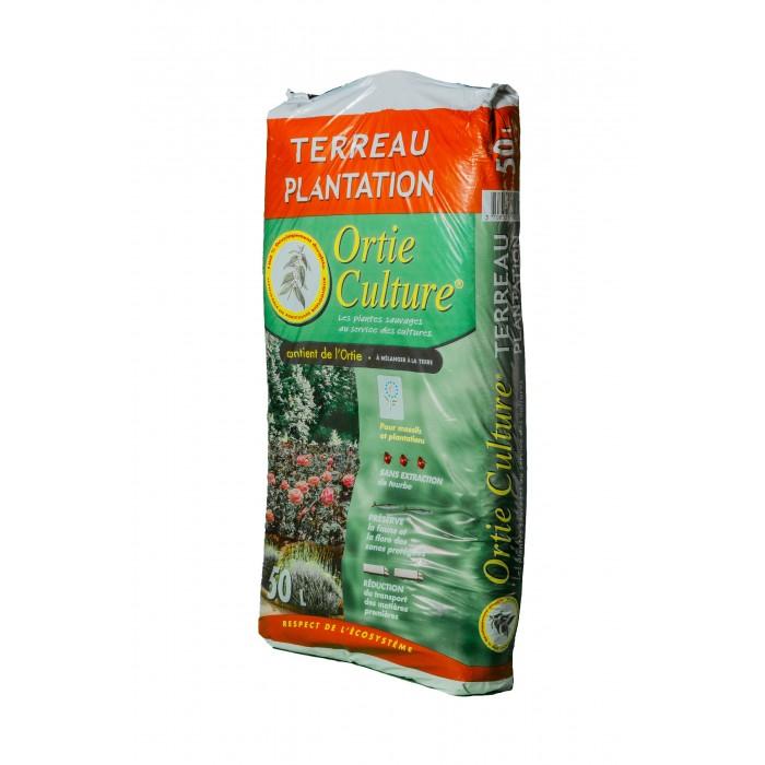 42 sacs de Terreau Ortie Culture Sans Tourbe - Sac de 50L -