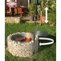 Barbecue circulaire en gabion 72/10 cm