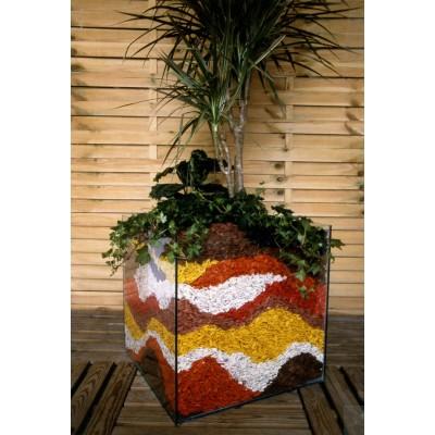 Paillage décoratif coloré pour plantation - Sac de 50L