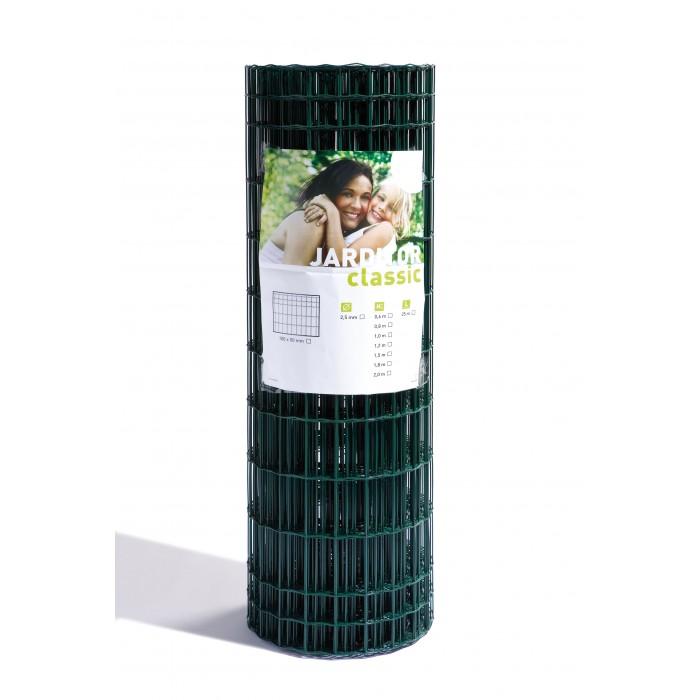 Grillage Soudé PVC Classic Jarditor - Hauteur de 1 m, 1,2 m, 1,5 m, 1,8 m ou 2 m