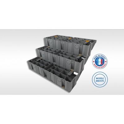 Escalier Modulable MODULESCA en polymère technique renforcé - Pack de 4