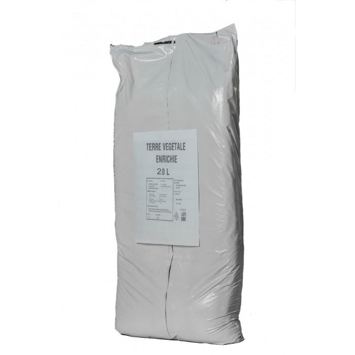 Terre Vegetale Enrichie - Sac de 20L - Palette de 48 sacs