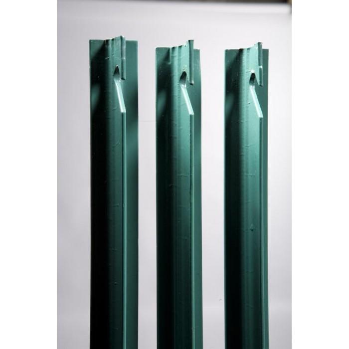 Poteau de grillage en T PVC Vert - MRT