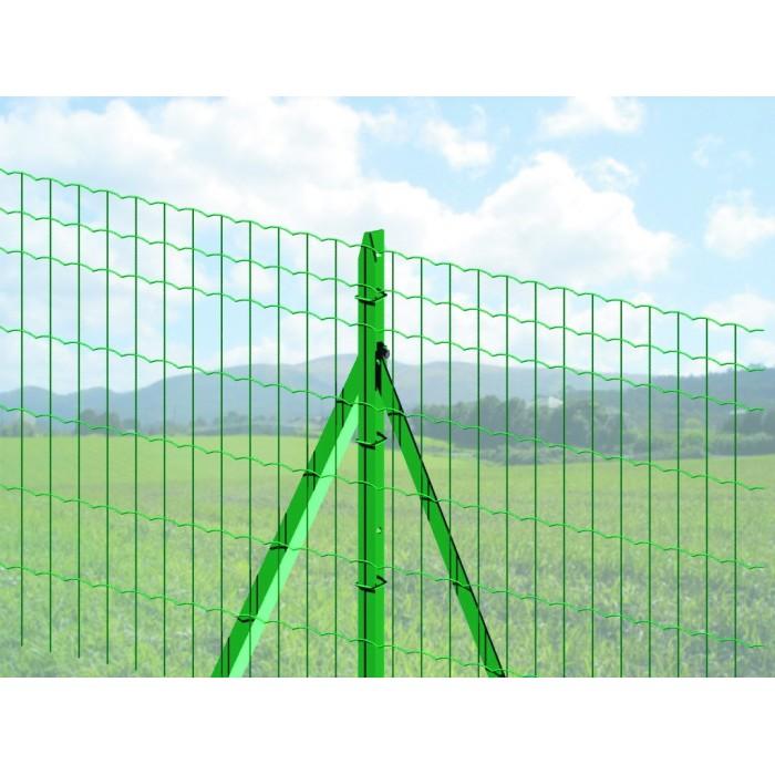 Poteau de grillage classique Vert - Hauteur de 1m à 2,25m