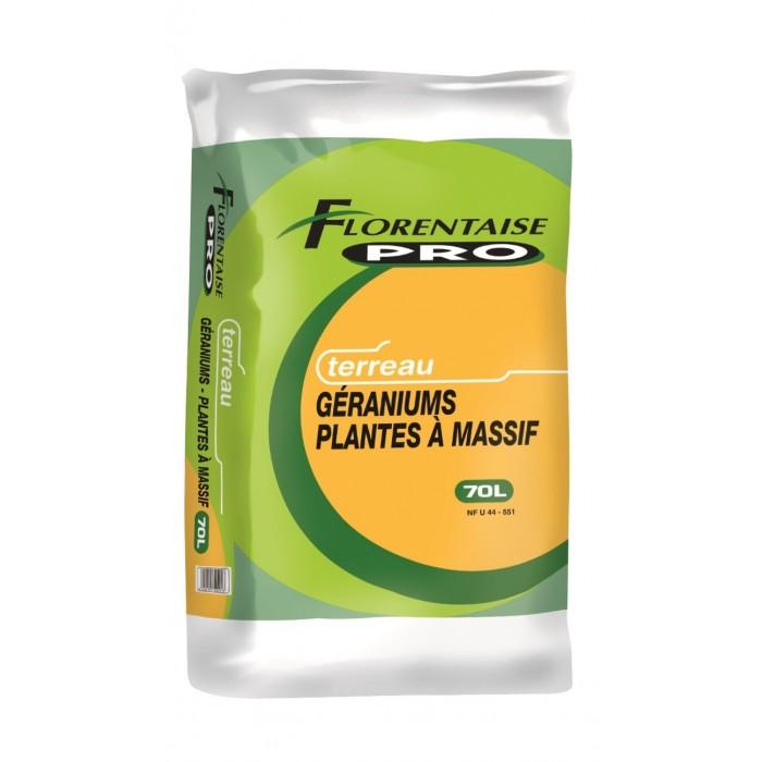 Terreau pour plantes à massifs et géraniums - Sac de 70L - Palette de 33 sacs