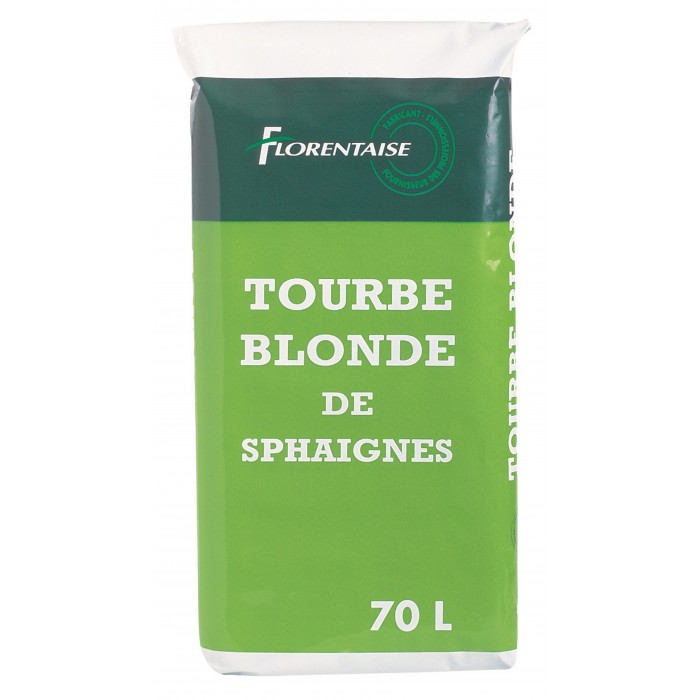 30 sacs de Tourbe Blonde naturelle - Sac de 70L