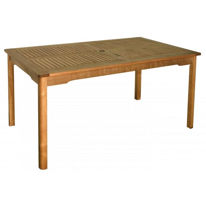 Table Rectangulaire en Bois Exotique